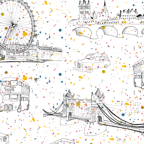 london celebration fabric by minimiel on Spoonflower - custom fabric