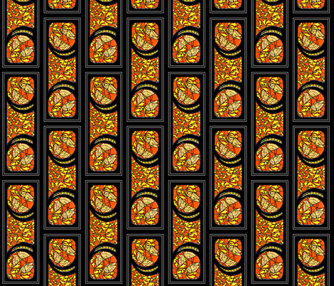 Nouveau Row fabric by whimzwhirled on Spoonflower - custom fabric