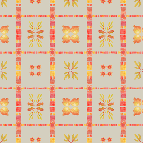Granada Tile_stone fabric by bee&lotus on Spoonflower - custom fabric