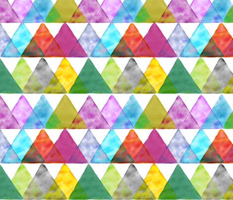 watercolor triangles fabric by ravynka on Spoonflower - custom fabric