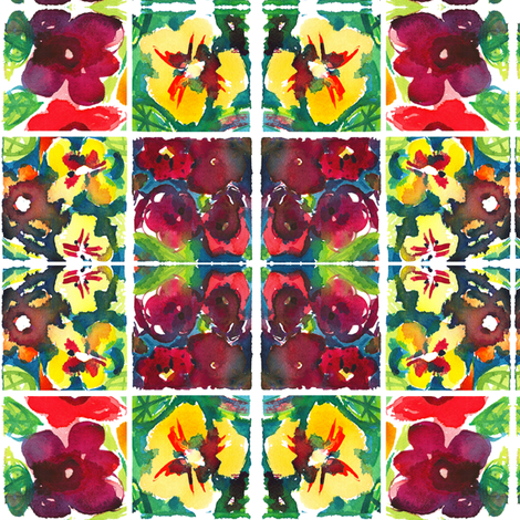 cestlaviv_nasturium 4 fabric by cest_la_viv on Spoonflower - custom fabric