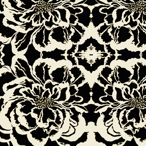 BAUER - Black Peony #1 fabric by scatteredseeds on Spoonflower - custom fabric