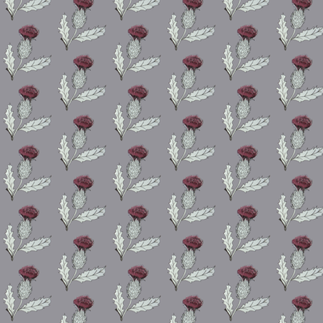 thistle fabric by sary on Spoonflower - custom fabric