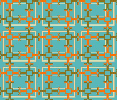 crux aqua fabric by goldentangerinedesigns on Spoonflower - custom fabric