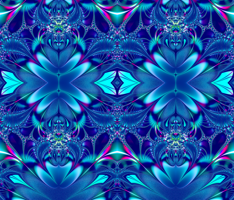 Blue Elegance Fractal fabric by artist4god on Spoonflower - custom fabric