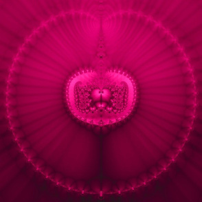 Fuchsia Jeweled Medallion Fractal