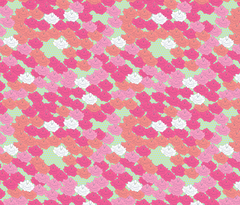 Spring Stitch Flowers fabric by candyjoyce on Spoonflower - custom fabric