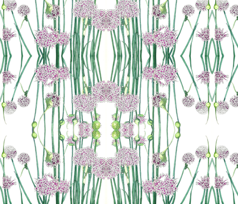 BAUER - Onion Blooms fabric by scatteredseeds on Spoonflower - custom fabric