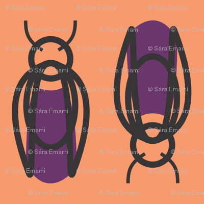 Purple Beetle Bugs