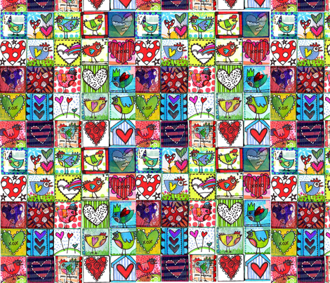 TWEETHEARTS fabric by tanyamac on Spoonflower - custom fabric