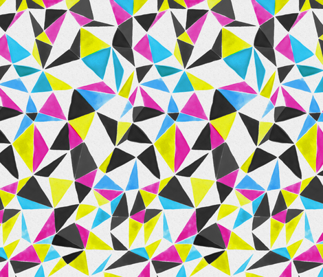 triangle FACETS - CMYK fabric by ravynka on Spoonflower - custom fabric