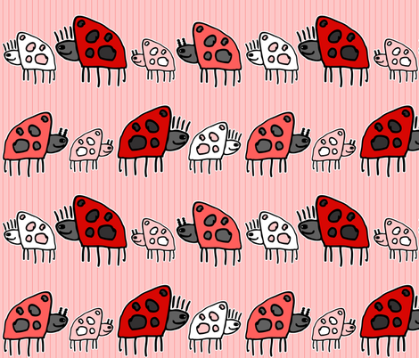 Ladybug Parade fabric by dianef on Spoonflower - custom fabric