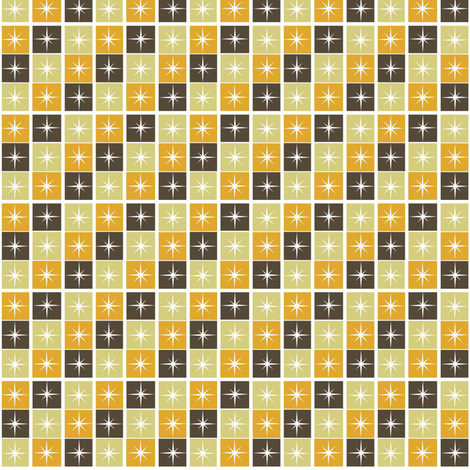 Retro squares fabric by whimzwhirled on Spoonflower - custom fabric