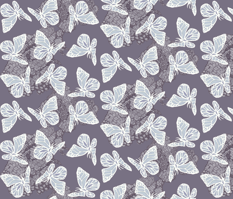 butterflies on lace fabric by katarina on Spoonflower - custom fabric