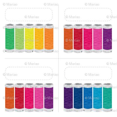 Rainbow spools Labels