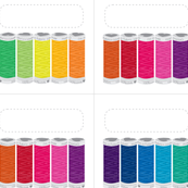 Rainbow spools Labels