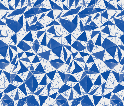triangle FACETS - cobalt blue fabric by ravynka on Spoonflower - custom fabric