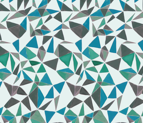 triangle FACETS- muted colors fabric by ravynka on Spoonflower - custom fabric
