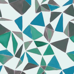 triangle FACETS- muted colors