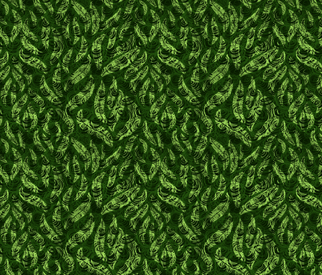 Leaves fabric by yaskii on Spoonflower - custom fabric