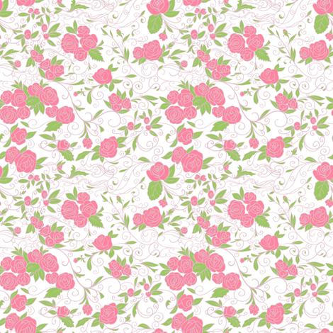 Roses fabric by yaskii on Spoonflower - custom fabric