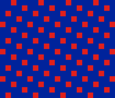 Blue and Red Tiled fabric by carmenscottagecreations on Spoonflower - custom fabric