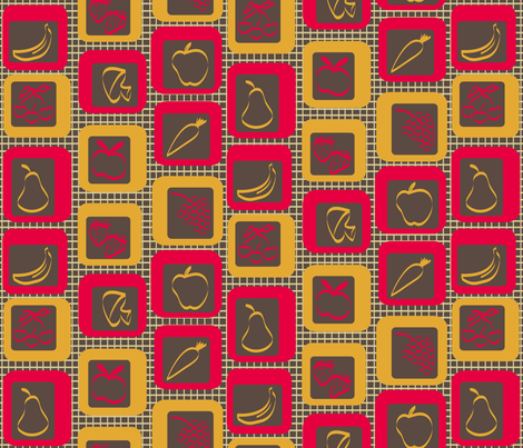What's for Dinner? fabric by coloroncloth on Spoonflower - custom fabric