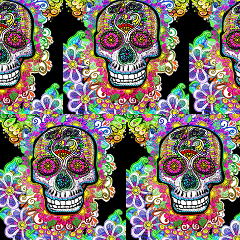 Sugar Skulls fabric by bajidoo on Spoonflower - custom fabric