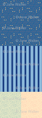 Blue Greyhound Gift Wrap Sampler ©2013 by Jane Walker