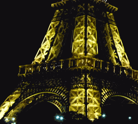 Eiffel Tower - Up Close and Personal fabric by susaninparis on Spoonflower - custom fabric