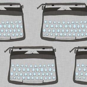 Typewriter - Grey