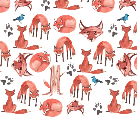 The Quick Red Fox fabric by nightgarden on Spoonflower - custom fabric