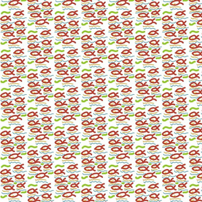 Smiling fish (red, green, amber, blue)