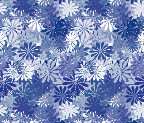 flowers fabric by kociara on Spoonflower - custom fabric