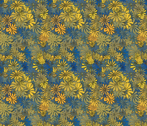 flowers 6 fabric by kociara on Spoonflower - custom fabric