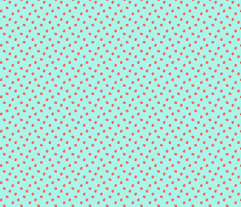Watercolor Polka Dot - Aqua/Red fabric by jacinda on Spoonflower - custom fabric