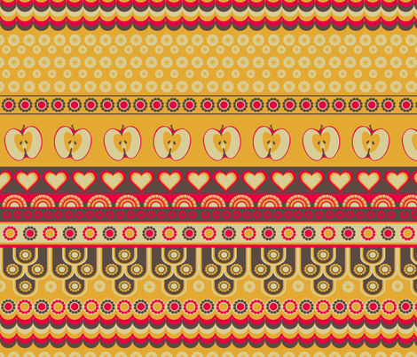 Retro-Kitchen Co-ordinate fabric by ★lucy★santana★ on Spoonflower - custom fabric