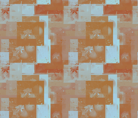 orange_blossom collage fabric by kociara on Spoonflower - custom fabric