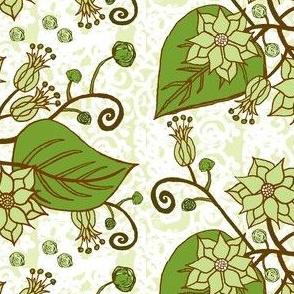 Flower Drawing Grass Green