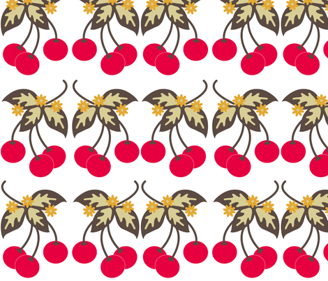 RETRO_RED_CHERRY fabric by cara_capria on Spoonflower - custom fabric