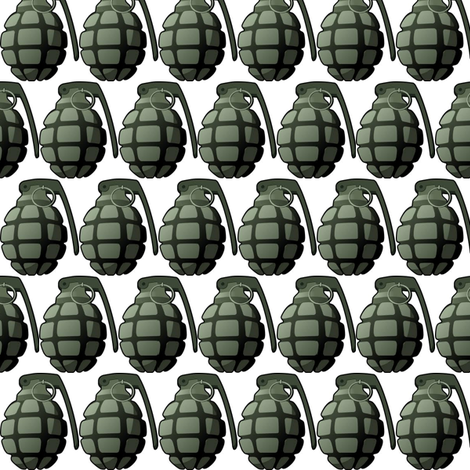 grenade fabric by weebeastiecreations on Spoonflower - custom fabric