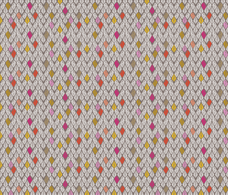 Some Days are Diamonds - warm fabric by femiford on Spoonflower - custom fabric