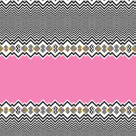 Mix Tricks - Pink fabric by ornaart on Spoonflower - custom fabric