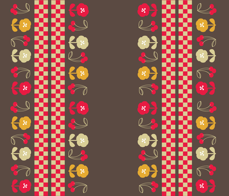 40s Inspired Retro Kitchen fabric by owlandchickadee on Spoonflower - custom fabric