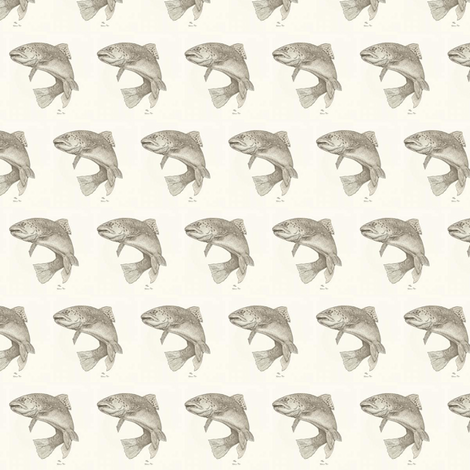 trout fabric by fabricfaeries on Spoonflower - custom fabric