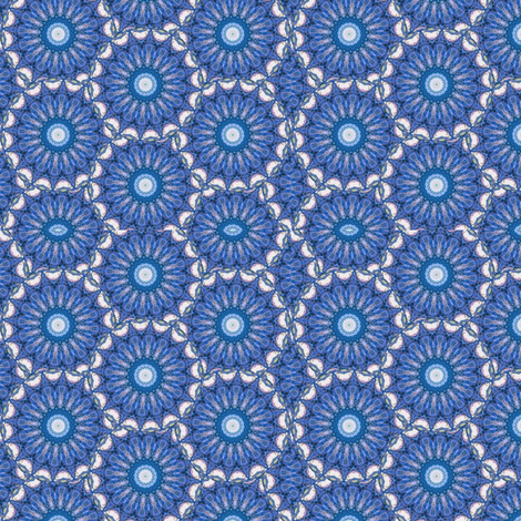 Nautilus Dance Mandala 3 fabric by dovetail_designs on Spoonflower - custom fabric