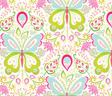 Springtime Mariposa fabric by kayajoy on Spoonflower - custom fabric