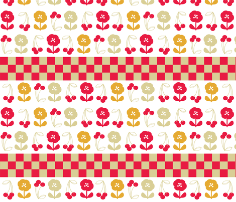 retro-kitchen-40s-5 fabric by owlandchickadee on Spoonflower - custom fabric