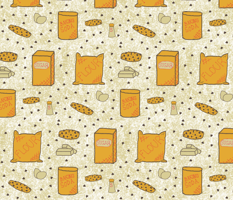 Cookies At Grandmas fabric by oakroot_design on Spoonflower - custom fabric