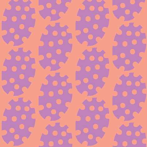 Spotty Dot (grape &amp; tangerine) fabric by pattyryboltdesigns on Spoonflower - custom fabric